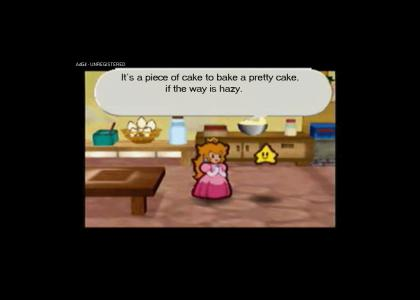 Princess Peach bakes a cake!