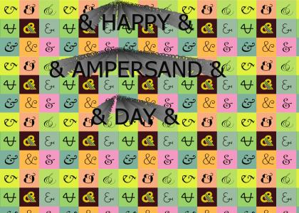 Happy Ampersand Day!
