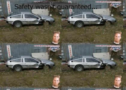 Mullet man wrecked his DeLorean