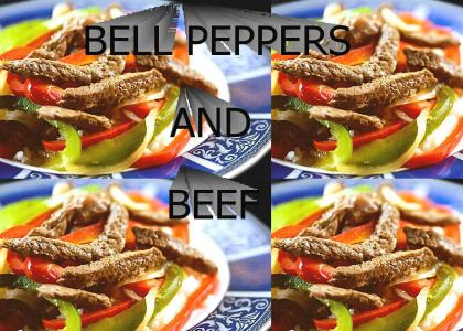 BELL PEPPERS AND BEEF