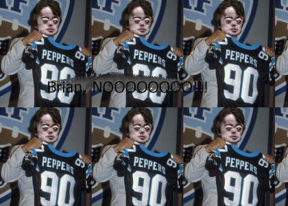 With the second pick in the NFL draft, the Carolina Panthers select... BRIAN PEPPERS!?!?