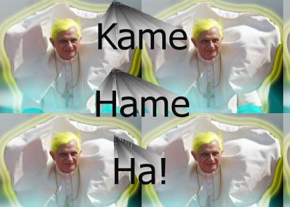 The Pope is a Super Saiyan!!!