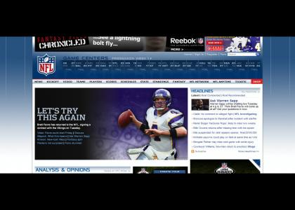 Brett Favre SPORTS site