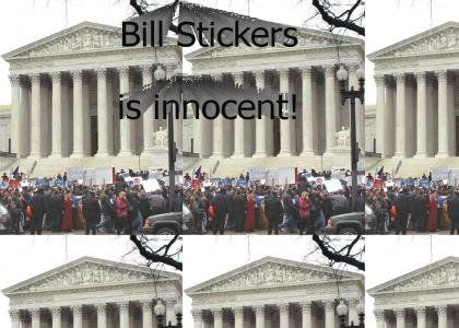 Bill Stickers protest...