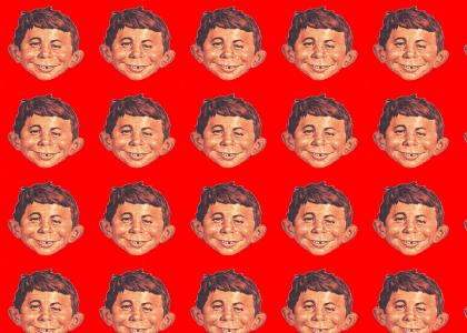 Alfred E. Neuman doesn't change facial expressions