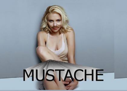 Scarlett Johansson With a Mustache