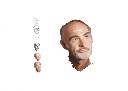 ARTmnd. Sean Connery Portrait