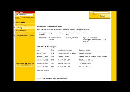 DHL - When it absolutely, positively has to be there last month!