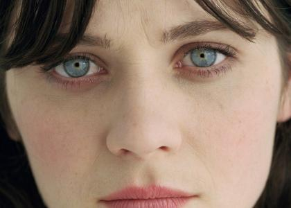 Zooey Deschanel Stares Into Your Soul
