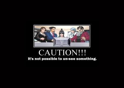 Phoenix Wright, with a warning about the nature of the internet...