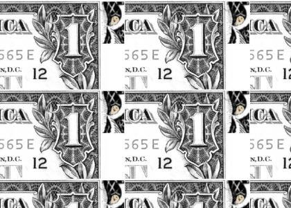 Owl on 1 dollar bill!  REAL!