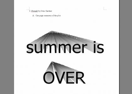 summer reading :(