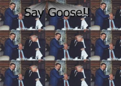 George W. Bush: duck duck duck.....