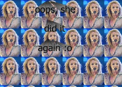 Britney singing (may contain glass cracking)
