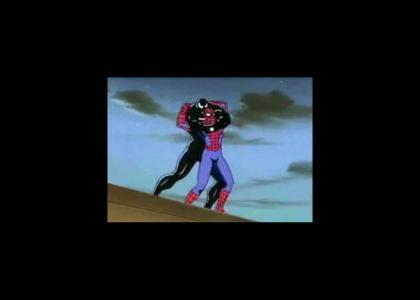 Spidey gets teh surprise buttsecks from venom!