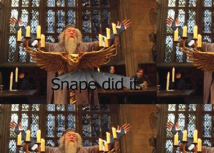 Dumbledore's arms are broken.