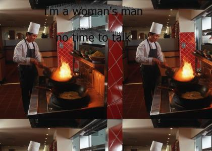 you can tell by the way i use my wok