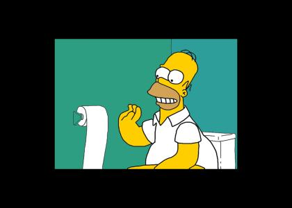 I've been sittin' on the toilet...