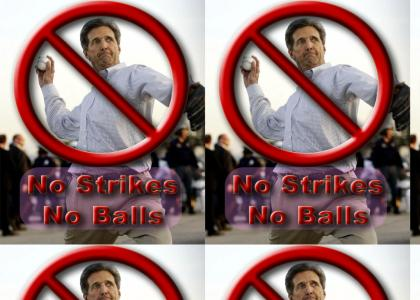 John Kerry Fails At Baseball