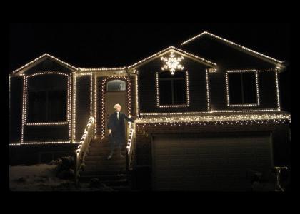 GW decorates his house