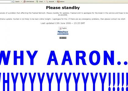 The SIX THIRTEEN outage of aaron in japan