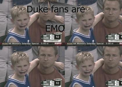 Duke fans are emo