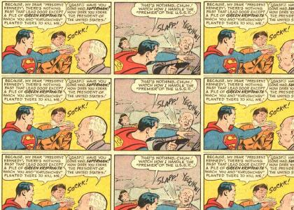 Superman vs. JFK & Khrushchev!