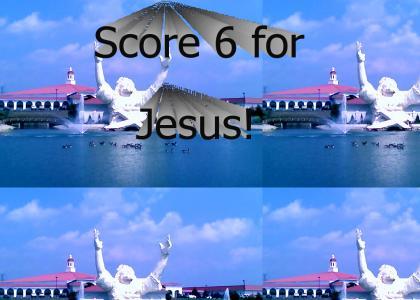 Touchdown Jesus!