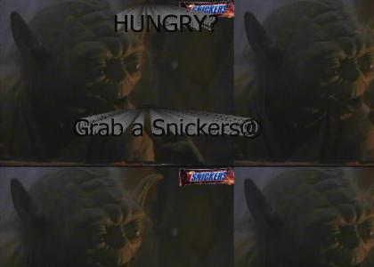 Yoda Loves Snickers!