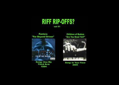 Riff Rip-Offs Vol 51 (Pantera v. Children of Bodom)