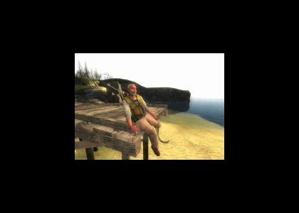 Gmod- Eli Sits on the Dock of the Bay
