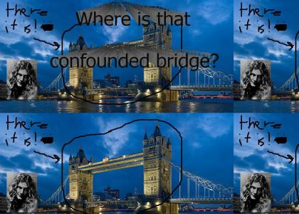 Robert Plant can't find the bridge!