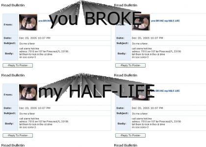 half-life myspace suicide