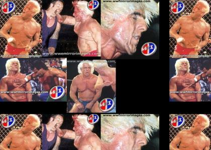 Ric Flair is made of Rubber!