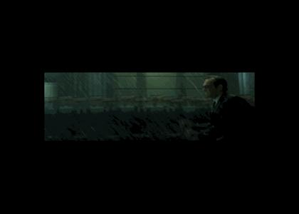 Agent Smith can't get out of the rain