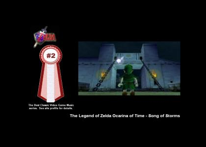The Legend of Zelda Ocarina of Time - Song of Storms (#2 Best Classic Video Game Music)