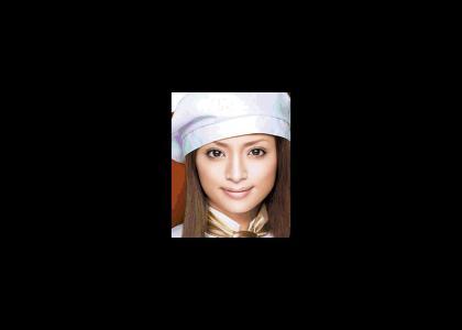 Ayumi Hamasaki doesn't change facial expressions