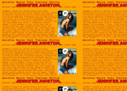 Jennifer Anistons tits are not important.