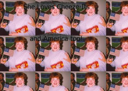 She Loves Cheez-Its...