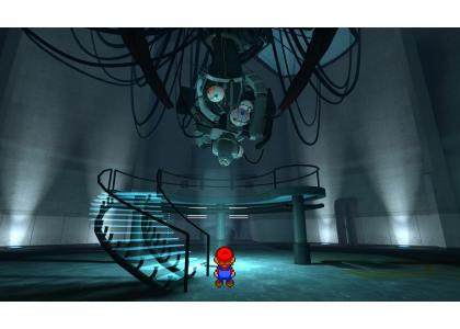 Mario is insulted by GLaDOS