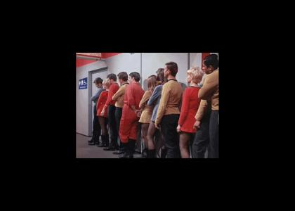 The Enterprise has one bathroom