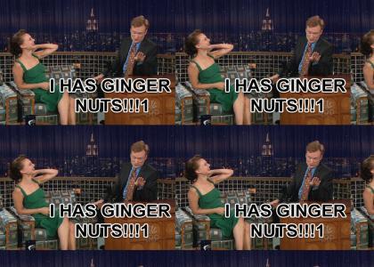 Conan Shows Natalie Portman His Ginger Nuts (O RLY Version)