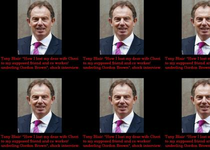 Tony Blair has his wife stolen... by Gordon Brown! (refresh until in sync)