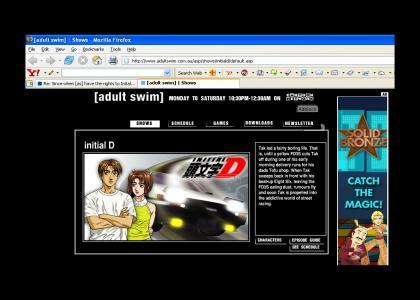 Initial D on Adult Swim in Austraila?