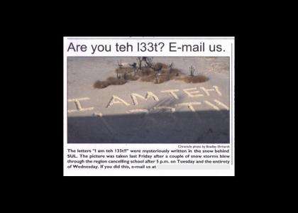 Are you teh l33t?