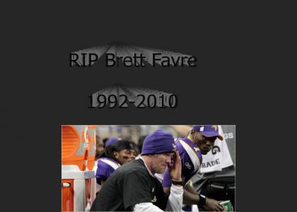 RIP Brett Favre 1992-2010