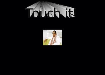 She has to touch (Jeff Goldblum)