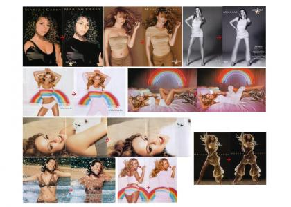 Mariah Carey CENSORED by Saudi Arabia.  TOO HOT!  Wow lol... (2 new pics)