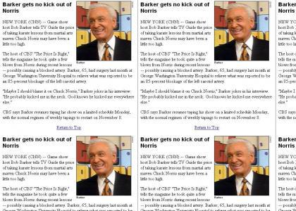 Chuck Norris owns Bob Barker
