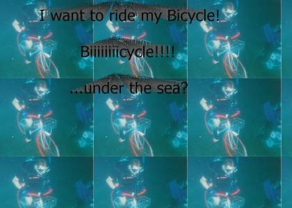Under Water Bicycle Race